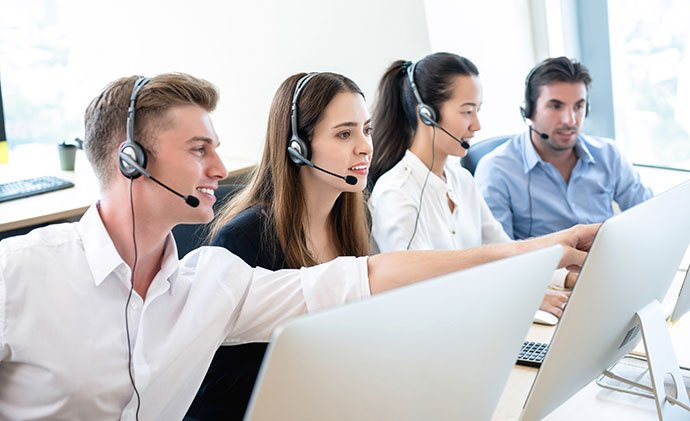 Teamwork im Call Center